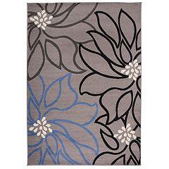 Nevada Contemporary Floral Print Rug