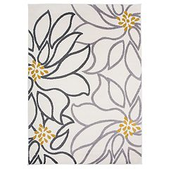 Nevada Contemporary Floral Print Rug