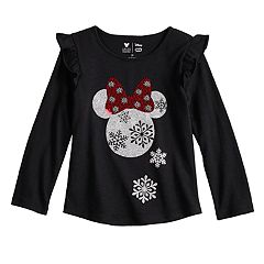 Disney's Minnie Mouse Toddler Girl Glittery Holiday Graphic Top by Jumping Beans®