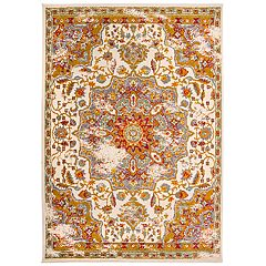 Nevada Traditional Medallion Distressed Rug