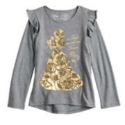 Disney's Beauty and the Beast Belle Girls 4-12 Foiled & Sequin Graphic Top by Jumping Beans®