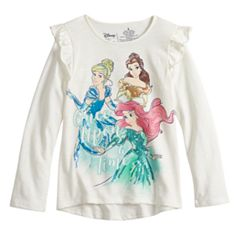 Disney's Belle, Cinderella & Ariel Toddler Girl Sequined Graphics Top by Jumping Beans®
