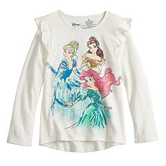 Disney's Belle, Cinderella & Ariel Girls 4-12 Sequined Graphics Top by Jumping Beans®
