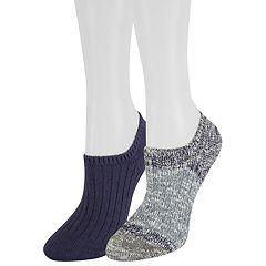 Women's SONOMA Goods for Life™ 2-Pack Ribbed Boot Liner Socks
