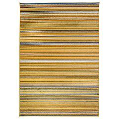 Nevada Contemporary Modern Striped Rug