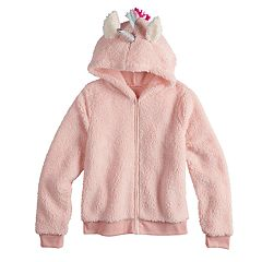 Girls 7-16 SO® Cozy Critter Full Zip Hoodie