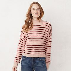 Women's LC Lauren Conrad Striped Funnelneck Sweater