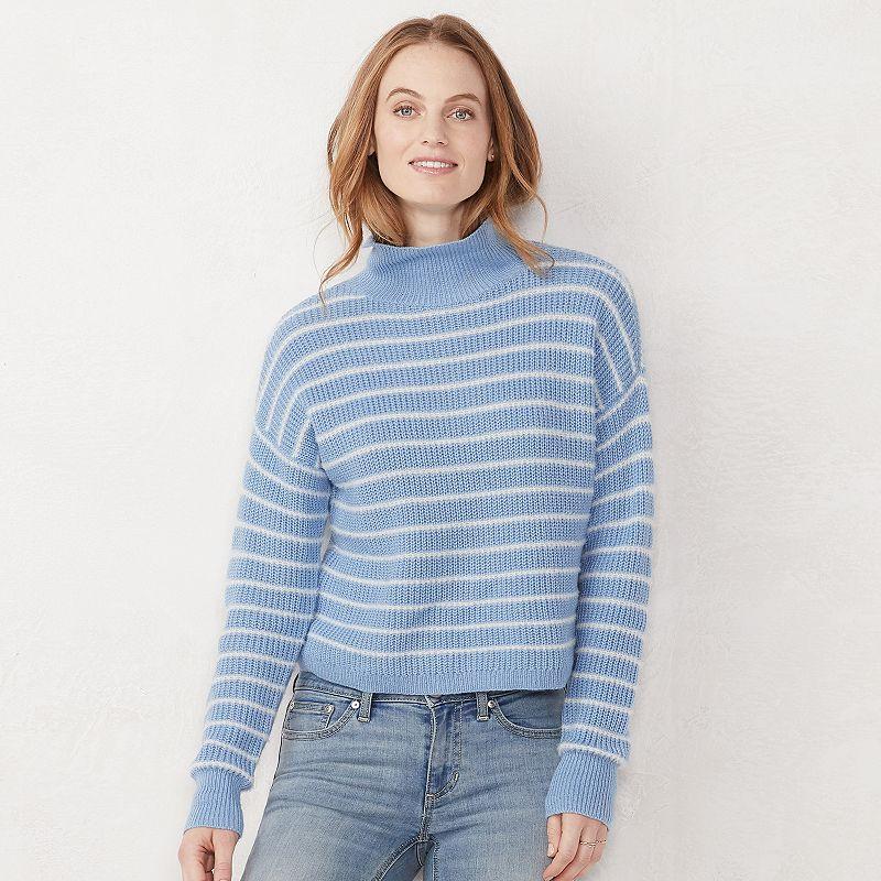 e90b6da73ca Women s LC Lauren Conrad Striped Funnelneck Sweater