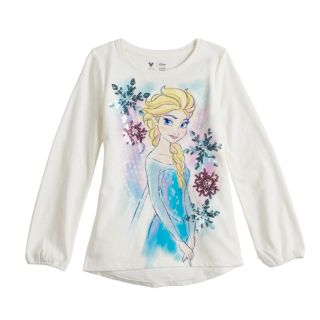 Disney's Frozen Elsa Toddler Girl Sequin & Glitter Graphic Tee by Jumping Beans®