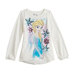 Disney's Frozen Elsa Girls 4-12 Sequin & Glitter Graphic Tee by Jumping Beans®