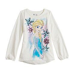 Disney's Frozen Elsa Girls 4-12 Sequin & Glitter Graphic Tee by Jumping Beans®