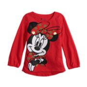 Disney's Minnie Mouse Toddler Girl Sequin & Glitter Graphic Tee by Jumping Beans®