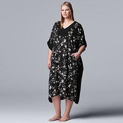 Plus Size Simply Vera Vera Wang Caftan Sleepshirt