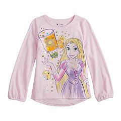 Disney's Rapunzel Girls 4-12 Glittery Graphic Tee by Jumping Beans®
