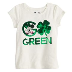 Disney's Minnie Mouse Toddler Girl 'Go Green' St. Patrick's Day Graphic Tee by Jumping Beans®