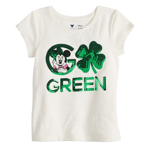 "Disney's Minnie Mouse Girls 4-10 ""Go Green"" St. Patrick's Day Graphic Tee by Jumping Beans®"