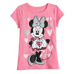 Disney's Minnie Mouse Toddler Girl Sequin & Glitter Heart Graphics Tee by Jumping Beans®