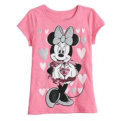 Disney's Minnie Mouse Girls 4-10 Sequin & Glitter Heart Graphics Tee by Jumping Beans®