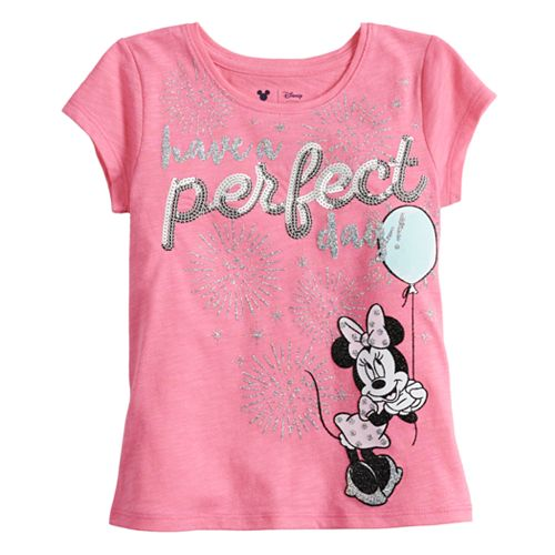84a537523 Disney's Minnie Mouse Toddler Girl Glittery Graphic Tee by Jumping ...