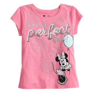 Disney's Minnie Mouse Girls 4-10 Glittery Graphic Tee by Jumping Beans®