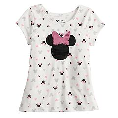 Disney's Minnie Mouse Toddler Girl Print & Sequined Tee by Jumping Beans®