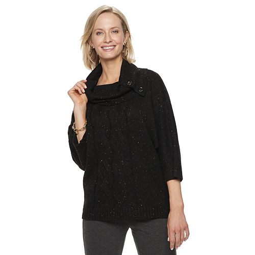 Women's Dana Buchman Cable-Knit Cowlneck Sweater
