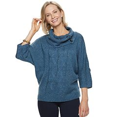 Women's Dana Buchman Cable-Knit Cowlneck Sweater