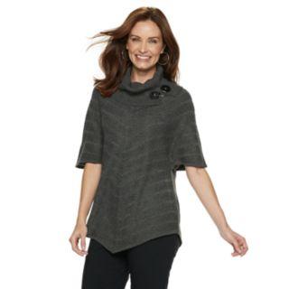 Women's Dana Buchman Mitered Cowlneck Sweater