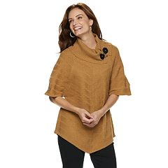 Women's Dana Buchman Mitered Cowlneck Sweater