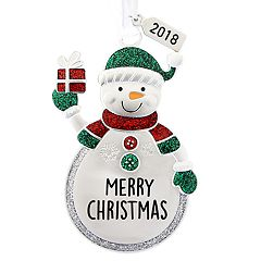 Snowman Monogram Christmas Ornament