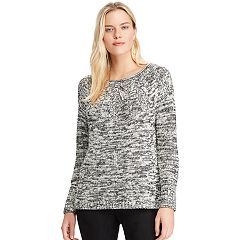 Women's Chaps Stitched Leaf Crewneck Sweater