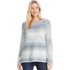 Women's Chaps Stitched Leaf Crewneck Sweater
