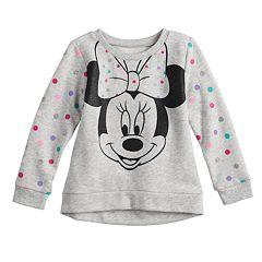 Disney's Minnie Mouse Toddler Girl Glitter Dot Softest Fleece Sweatshirt by Jumping Beans®