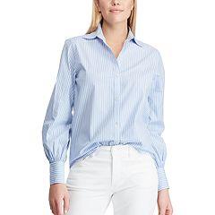 c4280cac71a Women s Chaps Striped No-Iron Broadcloth Shirt
