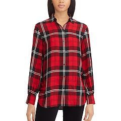 Women's Chaps Plaid Twill Tunic Shirt