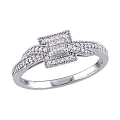 Stella Grace 10k White Gold 1/4 Carat T.W. Diamond Engagement Ring