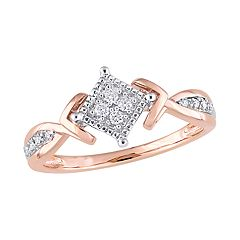 Stella Grace 10k White & Rose Gold 1/10 Carat T.W. Diamond Ring