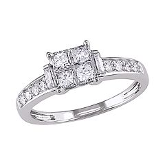Stella Grace 14k White Gold 5/8 Carat T.W. Diamond Engagement Ring