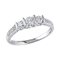 Stella Grace 10k White Gold 1/2 Carat T.W. Diamond Ring