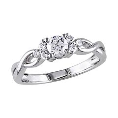 Stella Grace 14k White Gold 1/2 Carat T.W. Diamond Engagement Ring