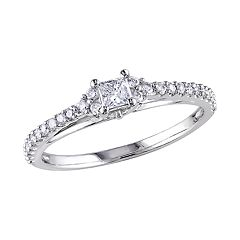 Stella Grace 10k White Gold 1/2 Carat T.W. Diamond Engagement Ring