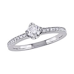 Stella Grace 14k White Gold 1/2 Carat Diamond Ring