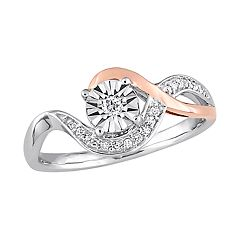 Stella Grace 10k White & Rose Gold 1/10 Carat T.W. Diamond Engagement Ring