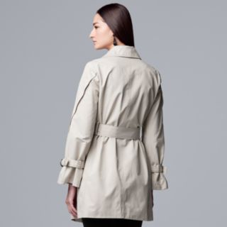 Women's Simply Vera Vera Wang Button Sleeve Trench Coat
