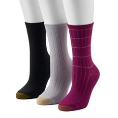 Women's GOLDTOE 3-Pack Ultra Soft Verona Crew Socks