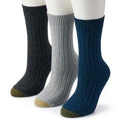 Women's GOLDTOE® 3-Pack Weekender Crew Socks