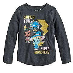 Girls 4-10 Jumping Beans® 'Super Fun Super Monsters' Glittery Graphic Tee