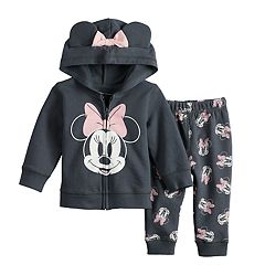 Disney's Minnie Mouse Baby Girl Graphic Hoodie & Print Pants Set by Jumping Beans®