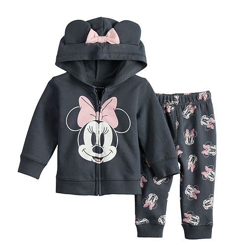 09f6d90ca Disney's Minnie Mouse Baby Girl Graphic Hoodie & Print Pants Set by ...