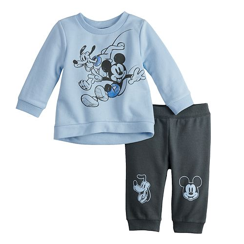 Disney's Mickey Mouse & Pluto Baby Boy Sweatshirt & Pants Set
